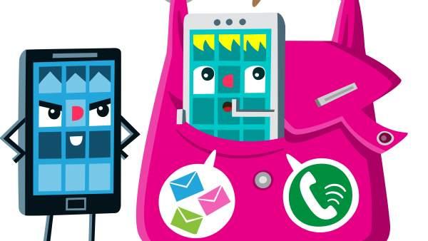 Ilustración sobre apps espía