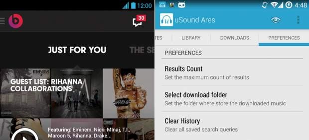 Nuevas aplicaciones para escuchar y descargar música gratis en un móvil Android