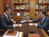 Primer despacho de Felipe VI con Rajoy
