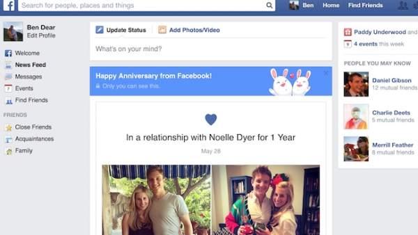 Facebook estrena una función sólo para parejas de enamorados