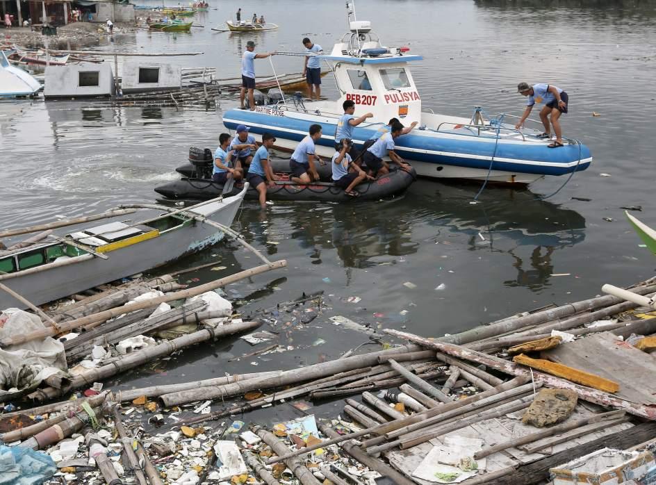 Ríos contaminados en Filipinas