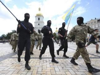 Voluntarios del batallón especial 'Azov'