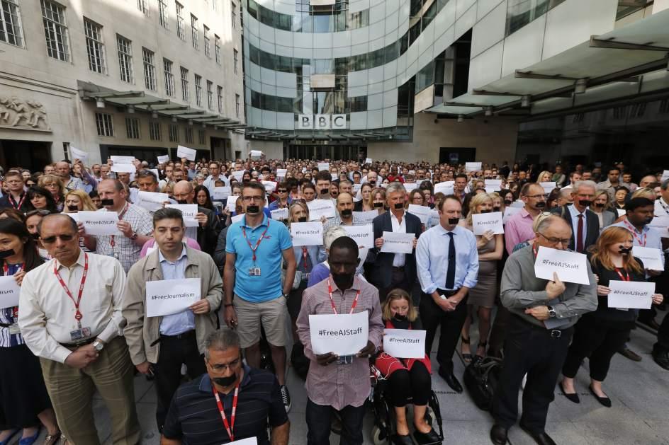 Solidaridad con los periodistas Condenados en Egipto