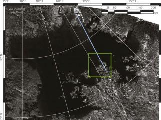 Isla mágica en Ligeia Mare en Titán