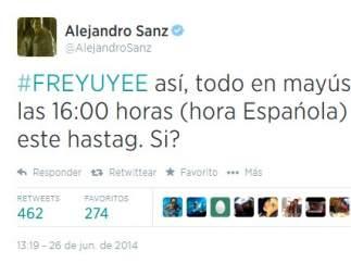 Tweet Alejandro Sanz