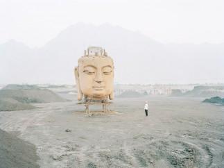 Buddha in Coal Yard, Ningxia Province, 2011