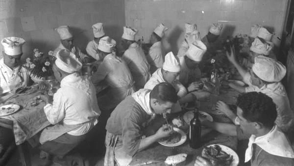 Cocineros durante la guerra