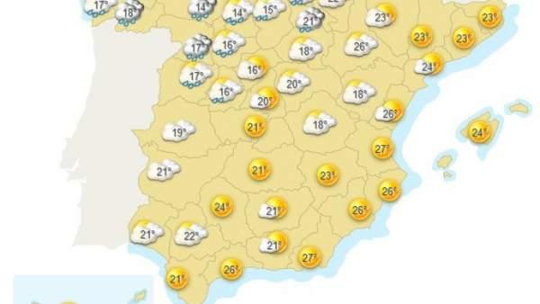 Mapa meteorológico de España