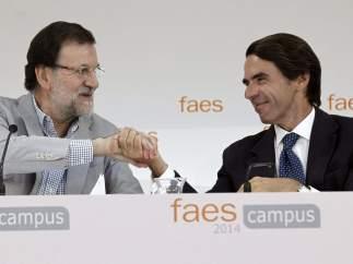 Rajoy, junto a Aznar