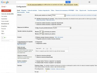 Gmail en gallego