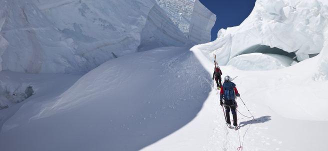 Montañeros en Mont Blanc