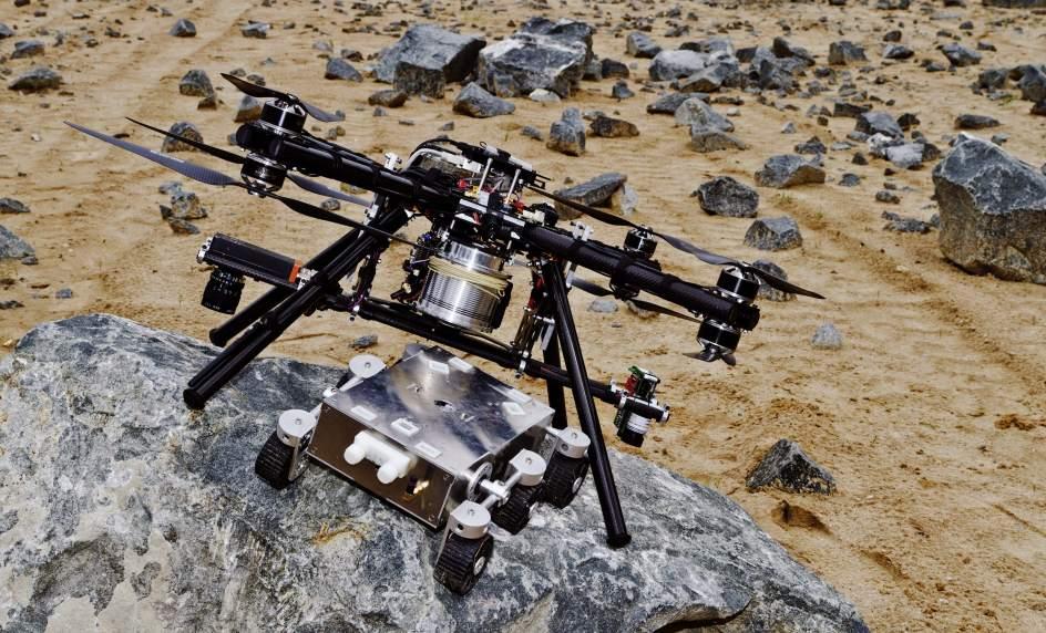 Un dron parágrafo ayudar a aterrizar en Marte