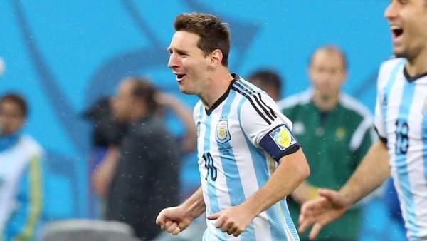 Messi celebra la victoria