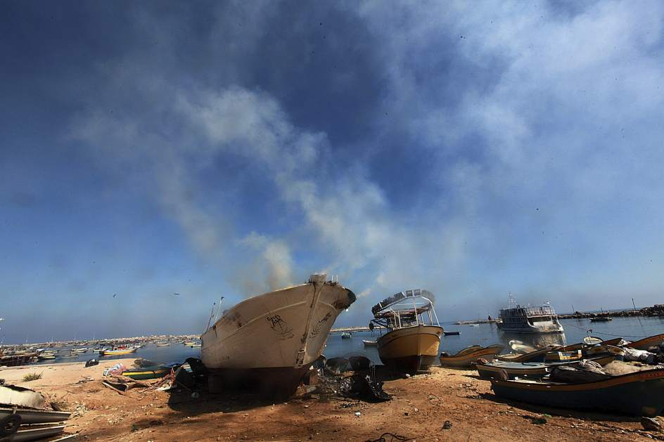Los bombardeos afectan a 'la flotilla de la libertad'