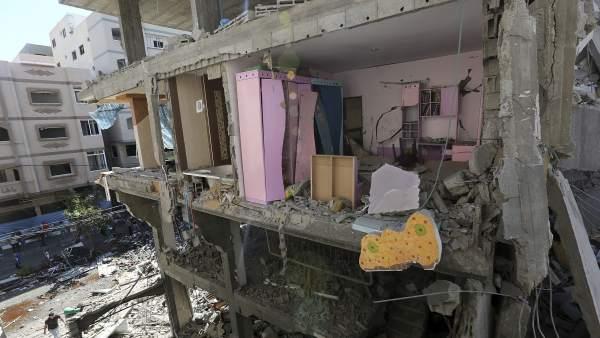 Casas destruídas en Gaza por los bombardeos israelíes