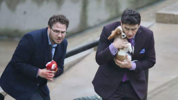 Rodaje de 'The Interview'.
