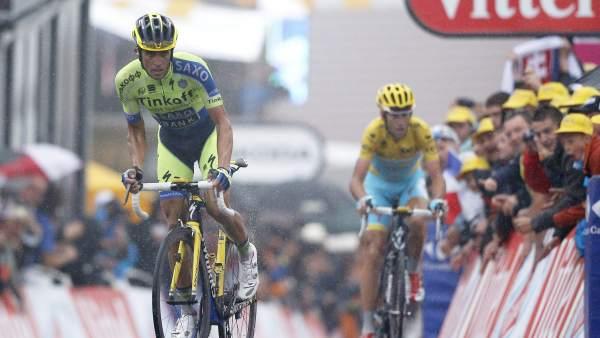 Contador y Nibali