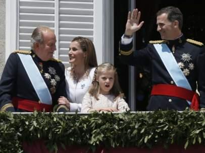 Juan Carlos I, el d�a de la proclamaci�n de Felipe VI
