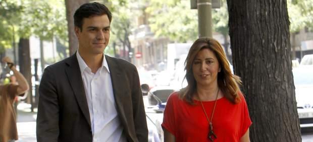 Pedro Sánchez y Susana Díaz, juntos en Ferraz