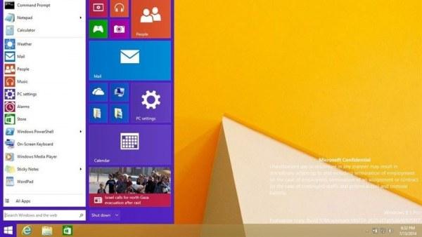 Pantalla principal Windows 9