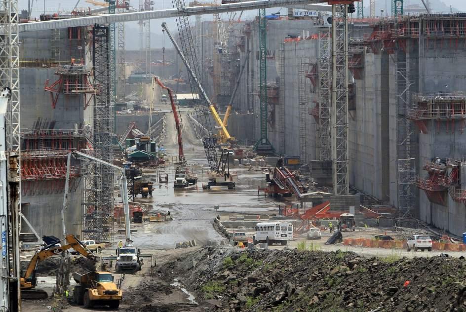 Las obras del Canal de Panamá, al 76%