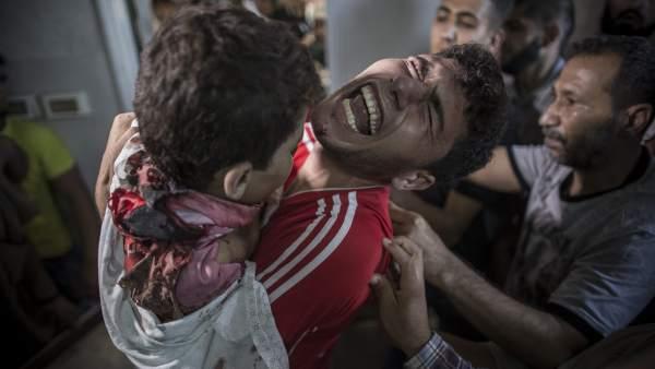 Niños muertos en Gaza