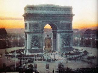 Victory celebration at Arc de Triomphe, Paris, 14 July 1919