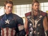 Thor y el Capitán América en Los Vengadores: la era de Ultron