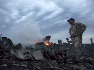 Un avión se estrella en el este de Ucrania