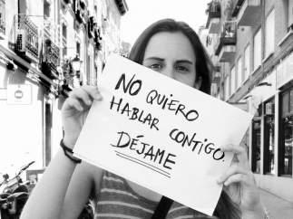 Campaña contra el acoso sexual en las calles de Madrid