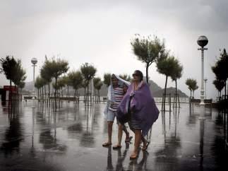 Tormenta de verano en San Sebasti�n