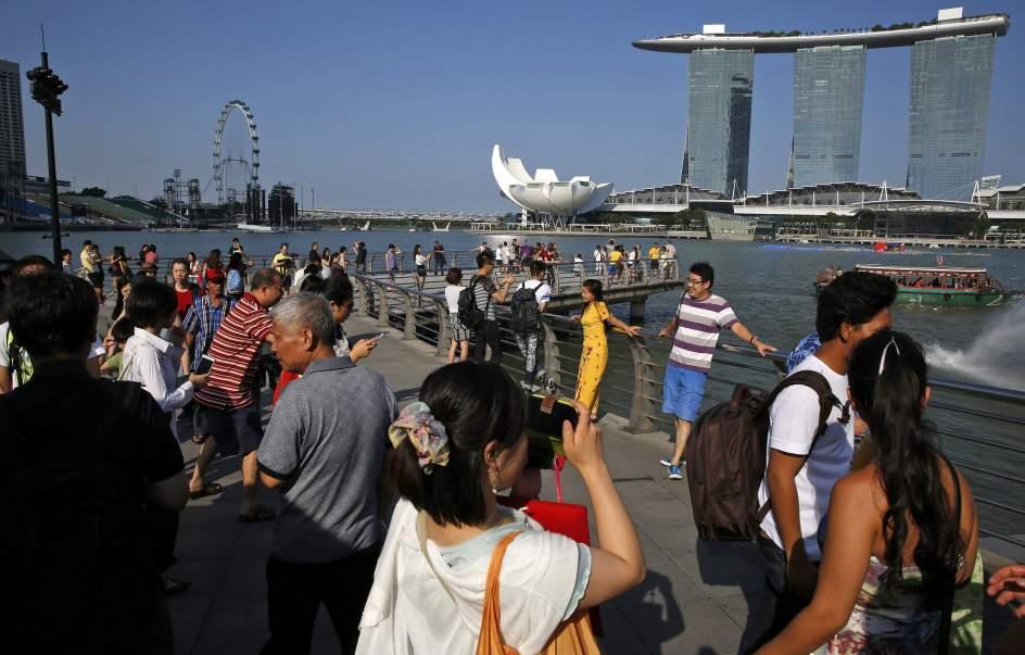 Desciende el turismo chino en Singapur