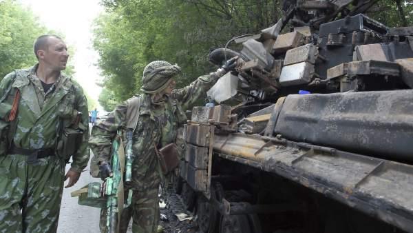 Combates en Donetsk, Ucrania