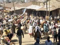 Un mercado en Adis Abeba, Etiop�a