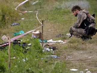 Avión derribado en Ucrania