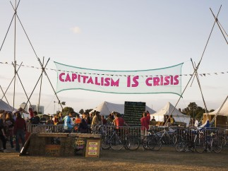 Capitalism is Crisis banner