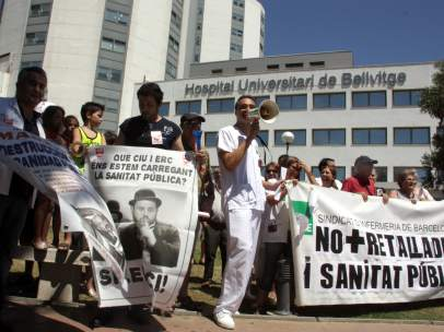 Protesta en Bellvitge
