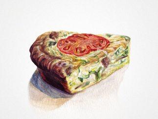 'Vegetable & Sausage Quiche'