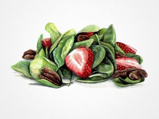 'Strawberry Salad with Balsamic Vinaigrette'