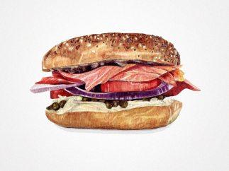 'Smoked Salmon Sandwich'