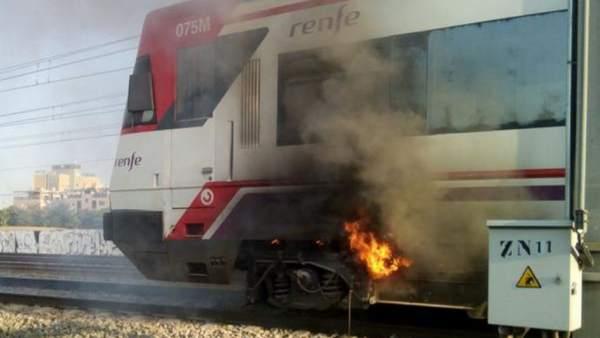 Desalojado Un Tren En La Estacion De La Garena Por Un Incendio