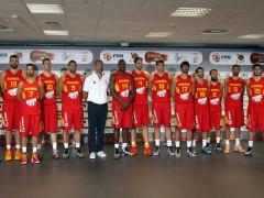 Orenga, con la selección para el Mundobasket 2014