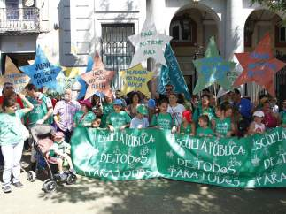 Protesta de padres del colegio Arcipreste de Hita