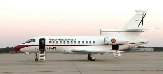 Avión de los expertos españoles