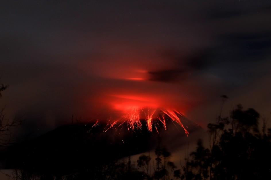 Nuevo pulso eruptivo del volcán Tungurahua