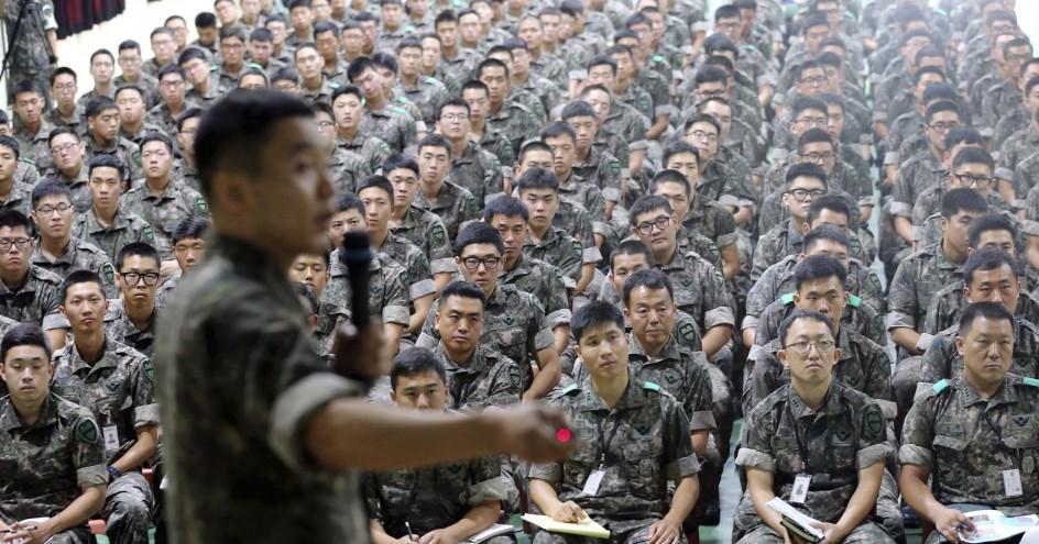 Clases de derechos humanos en el Ejército Coreano