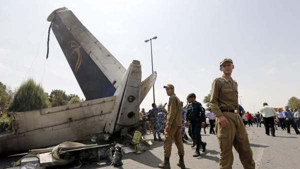 Accidente de avión en Teherán