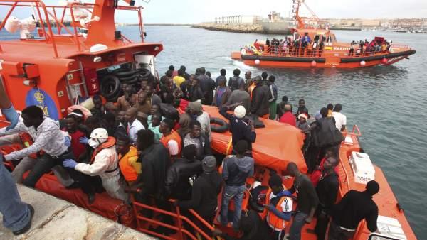 Llegada masiva de inmigrantes subsaharianos