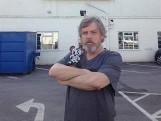 Mark Hamill, en el rodaje del 'Episodio VII'.
