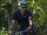Obama, en bici
